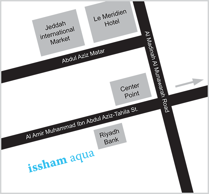 Map to Issham Aquatics retail store.